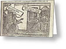Women Arguing, 18th Century Artwork Greeting Card