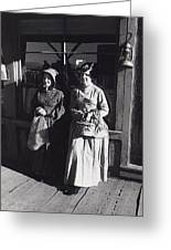 Women  Extras In Old West Costumes Dirty Dingus Magee Set Mescal Arizona 1970 Greeting Card