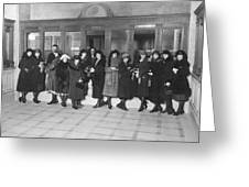Women In A Bank Greeting Card