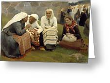 Women Outside The Church - Finland Greeting Card