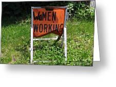 Women Working Greeting Card