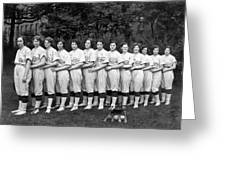 Women's Baseball Team Greeting Card