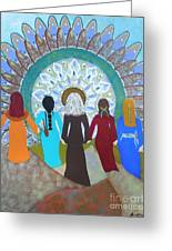 Women's Circle Mandala Greeting Card