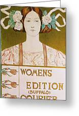Womens Edition Buffalo Courier Greeting Card