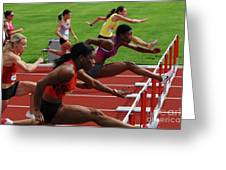 Womens Hurdles 3 Greeting Card