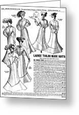 Women's Wear, 1902 Greeting Card
