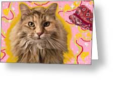 Wonder Kitty Greeting Card