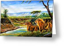 Wonder Of The Great Migration Greeting Card