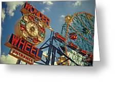 Wonder Wheel - Coney Island Greeting Card