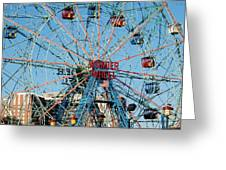 Wonder Wheel Of Coney Island Greeting Card