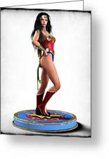 Wonder Woman V1 Greeting Card by Frederico Borges