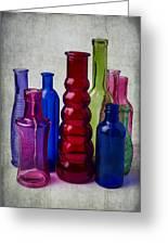 Wonderful Glass Bottles Greeting Card