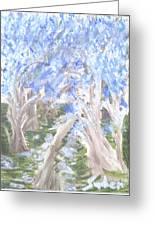 Wondering Through Trees Greeting Card