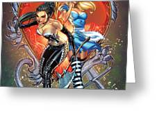 Wonderland Alice And Calie Greeting Card by Zenescope Entertainment