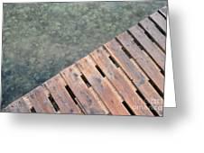 Wood And Sea Greeting Card