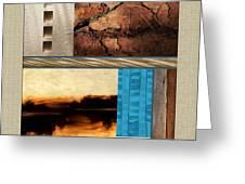Wood And Stone Rectangular Textures Greeting Card