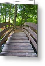 Wood Bridge Greeting Card