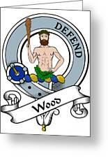 Wood Clan Badge Greeting Card