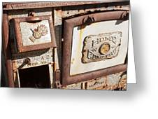 Wood Cook Stove Greeting Card
