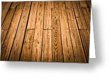 Wood Deck Background Greeting Card