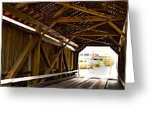 Wood Fame Bridge Greeting Card