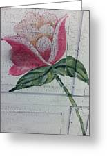 Wood Flower Greeting Card