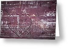 Wood Graffiti Greeting Card