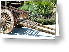 Wood Hand Cart II Greeting Card