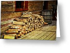 Wood Greeting Card by Marty Koch