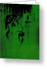 Wood Nymphs In Green Night Sight Greeting Card