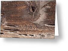 Wood Planks Greeting Card