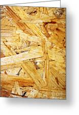 Wood Splinters Background Greeting Card