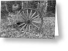 Wood Spoke Wheel Greeting Card
