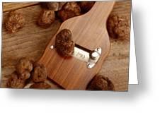 Wood Truffle Slicer Greeting Card