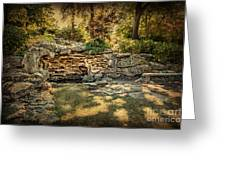 Woodard Park Koi Pond Greeting Card by Tamyra Ayles