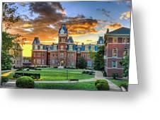 Woodburn Hall Evening Sunset Greeting Card by Dan Friend