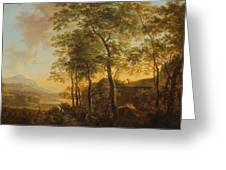 Wooded Hillside With A Vista Greeting Card
