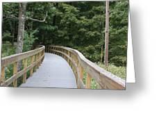 Wooded Walkway Greeting Card