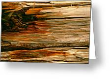 Wooden Abstract Greeting Card