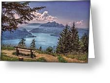 Wooden Bench Greeting Card