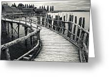 Wooden Boardwalk Greeting Card
