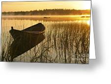 Wooden Boat Greeting Card by Veikko Suikkanen
