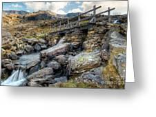 Wooden Bridge Greeting Card by Adrian Evans