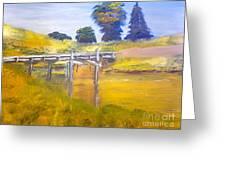Wooden Bridge At Graften Greeting Card