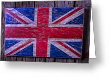 Wooden British Flag Greeting Card