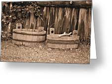 Wooden Buckets Greeting Card