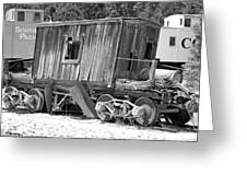 Wooden Caboose Greeting Card
