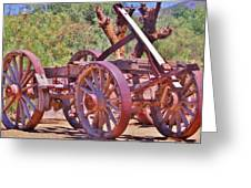 Wooden Cart Greeting Card