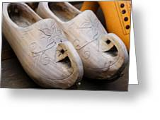 Wooden Clogs Greeting Card
