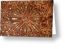 Wooden Coffered Ceiling In The Alhambra Greeting Card